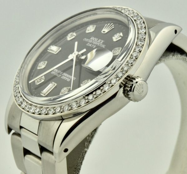 rolex date diamond bezel for sale