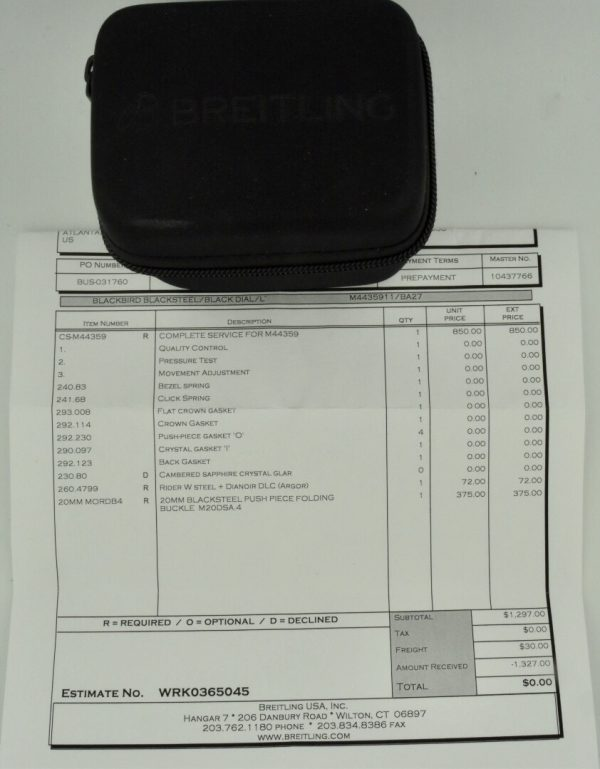 breitling Service papers