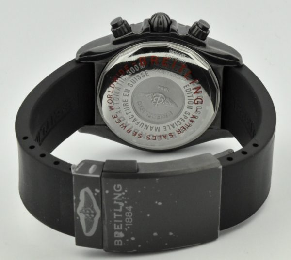 breitling black steel clasp