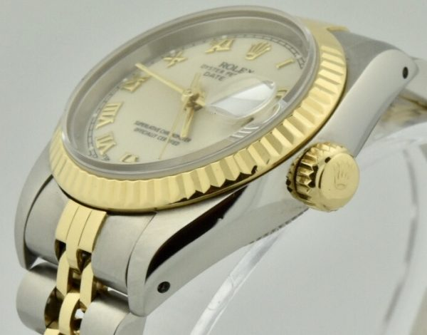 ladies rolex datejust crown