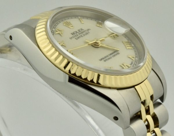 ladies rolex datejust steel & gold