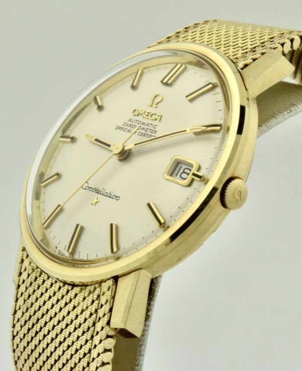 omega constellation 14k gold crown