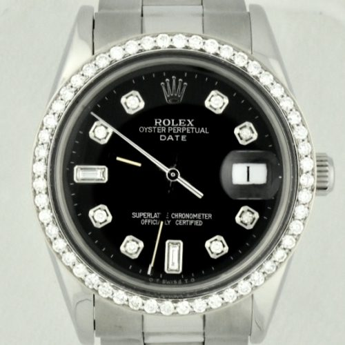 rolex date 15000 diamond bezel for sale