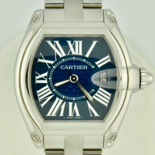 Cartier Roadster XL 100th Anniversary blue dial for sale