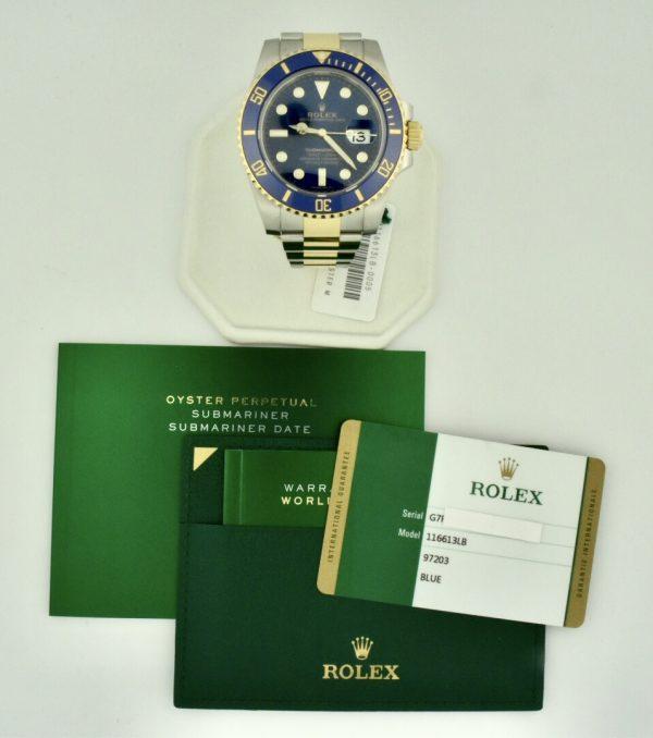 rolex submariner steel & gold 116613 for sale atlanta
