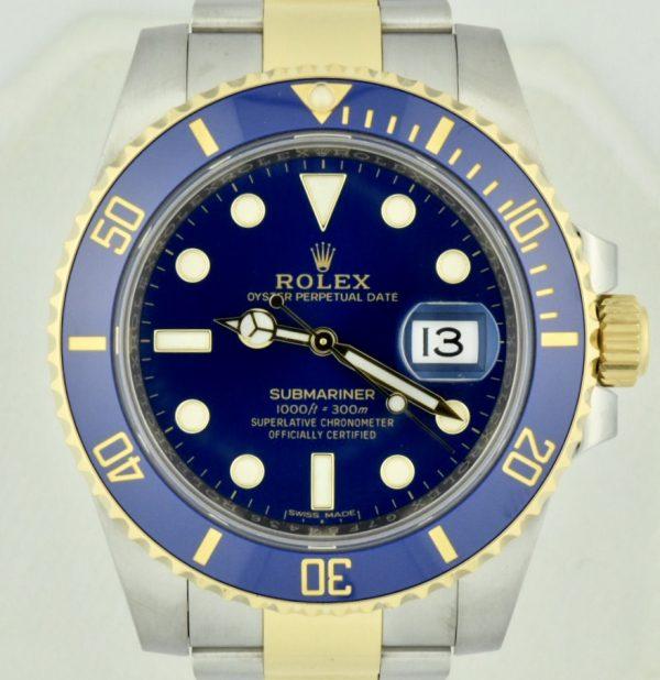 2017 Rolex submariner 116613lb Blue sunburst dial for sale