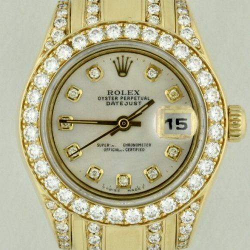 Rolex Pearlmaster 18k Gold diamonds