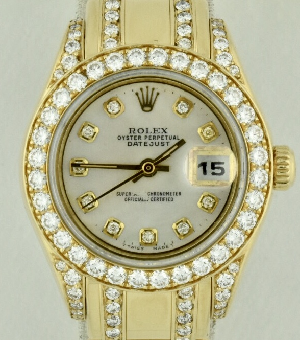 Rolex Pearlmaster 18k Gold diamonds