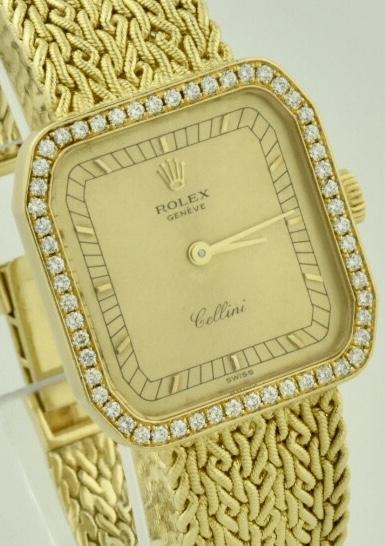 ladies rolex cellini 4647 18k yellow gold