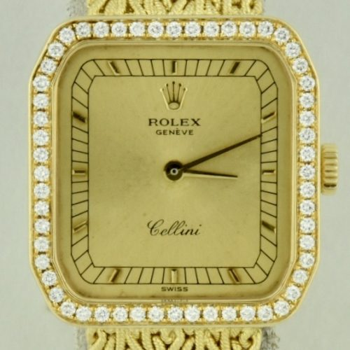 Rolex cellini 4647 diamond bezel for sale