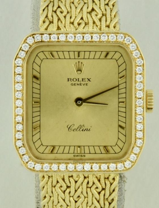 Rolex cellini 4647 diamond bezel for sale