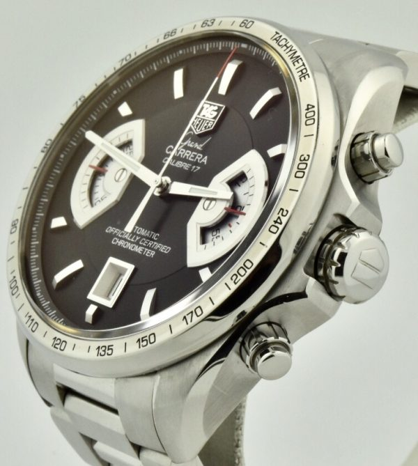 Tag heuer grand carrera black dial