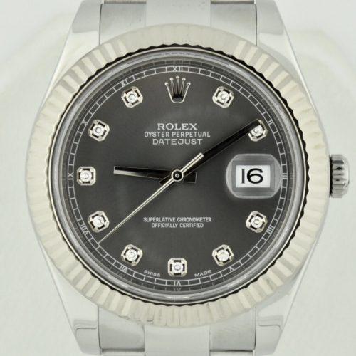 Rolex Datejust 116334 Rhodium diamond dial for sale