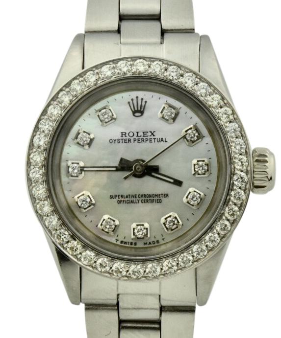 1962 ladies rolex oyster perpetual diamond