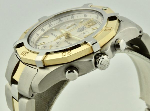 tag heuer professional steel & gold crown