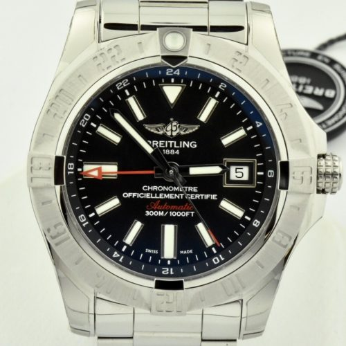 Breitling Avenger II GMT A32390 Black dial for sale