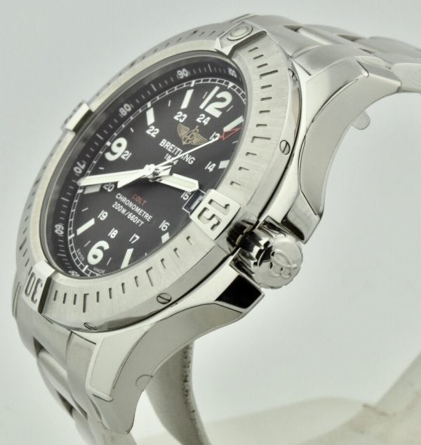breitling colt quartz a74388 black dial