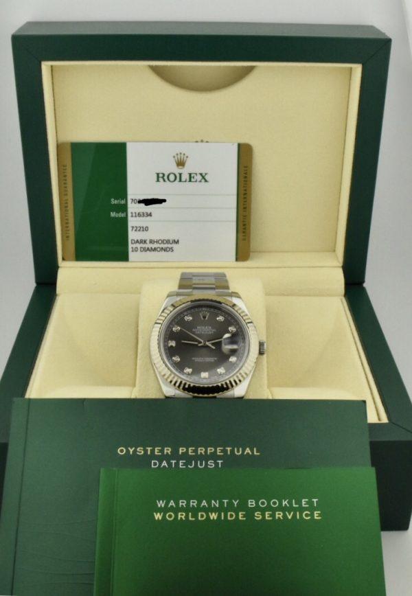 rolex datejust diamond dial for sale atlanta