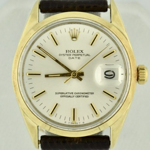 Vintage 1971 Rolex Date 1550 Gold Shell For sale