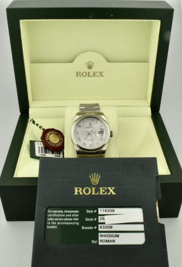 rolex 18k white gold president for sale