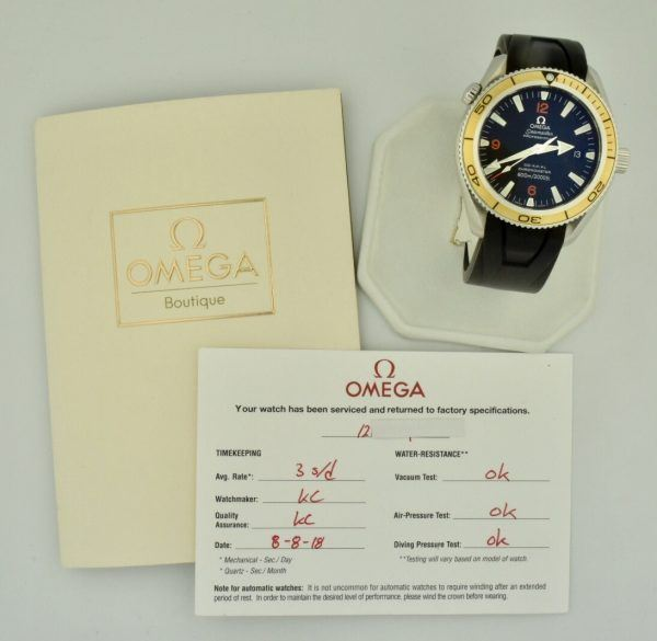 omega seamaster planet ocean orange bezel watch for sale