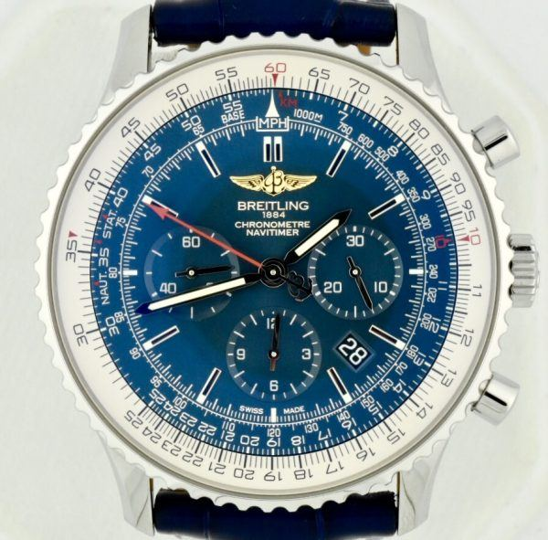 Breitling navitimer blue dial for sale