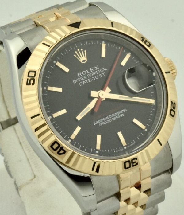rolex turn-o-graph rose gold bezel