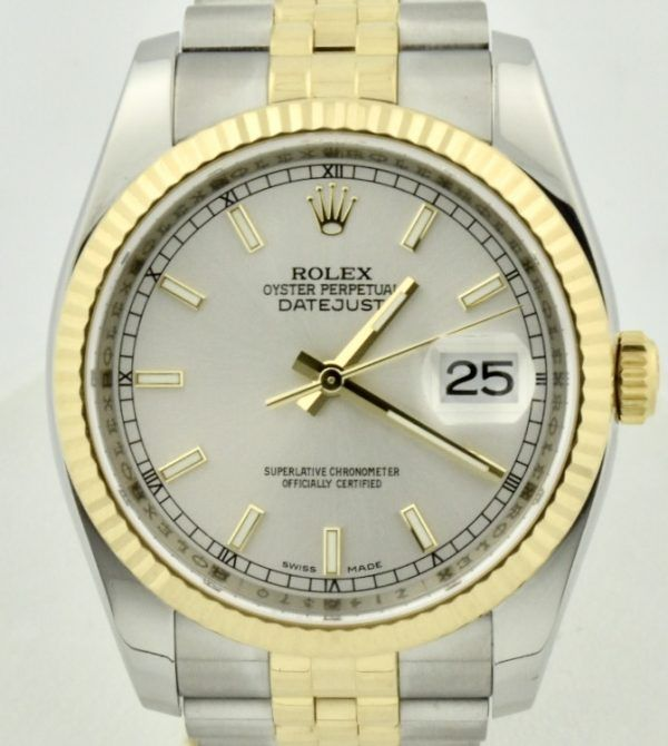 Rolex Datejust 116233 Silver Dial Jubilee band for sale