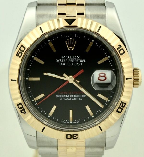 Rolex 116261 Turn-o-graph 18k rose gold for sale