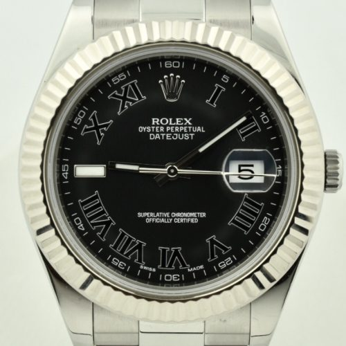 Rolex Datejust II 116334 Black roman dial