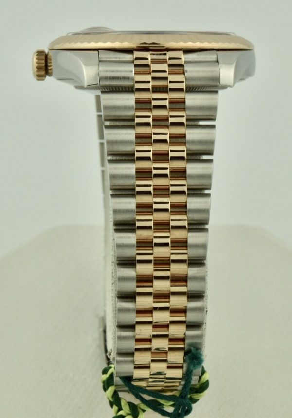 rolex datejust jubilee band steel & rose gold