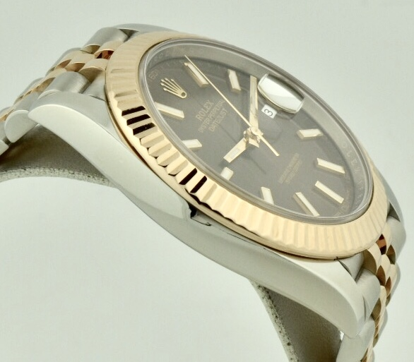 rolex datejust 41 rose gold bezel