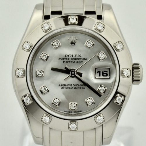 Ladies Rolex Pearlmaster white gold for sale