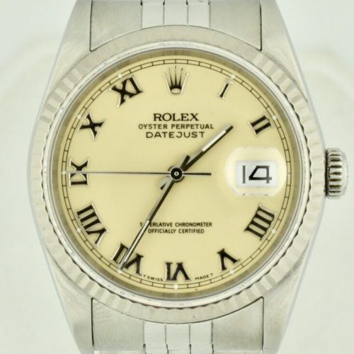 Rolex datejust 16234 stainless Ivory dial watch for sale