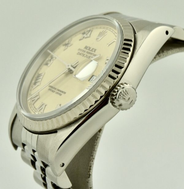 rolex datejust 16234 white gold bezel