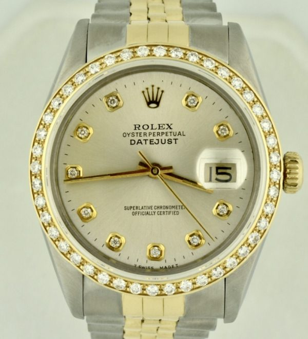 Rolex datejust 16013 diamond bezel watch for sale
