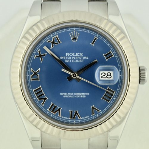 Rolex datejust II 116334 41mm blue roman dial for sale