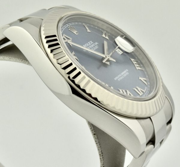rolex datejust 116334 azzurro blue dial