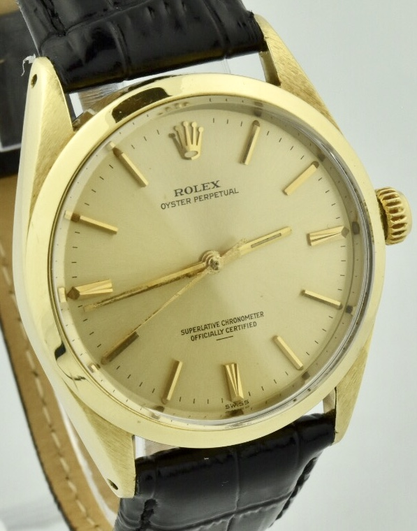 rolex oyster perpetual 1024 gold shell