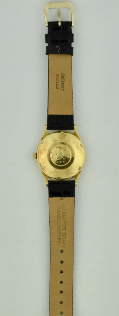 omega constellation 18k gold case