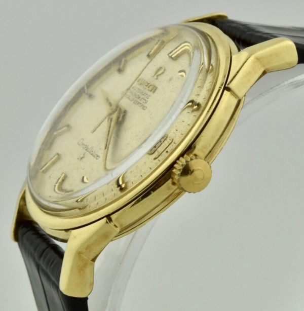 omega constellation 18k crown
