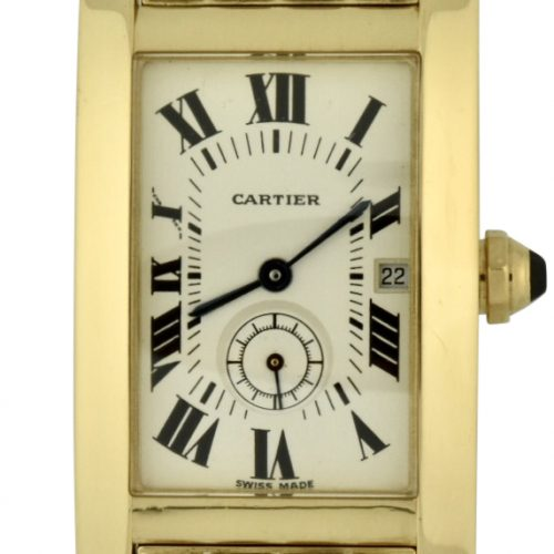 ladies cartier tank américaine 2556 18k gold