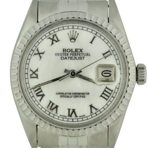 Rolex datejust 16030 mother of pearl dial