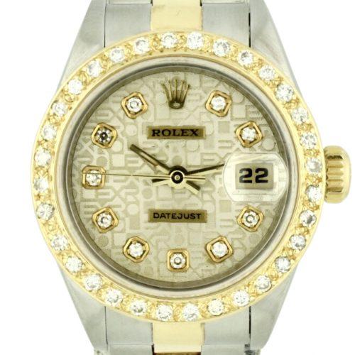 1998 ladies rolex 69173 diamond bezel for sale