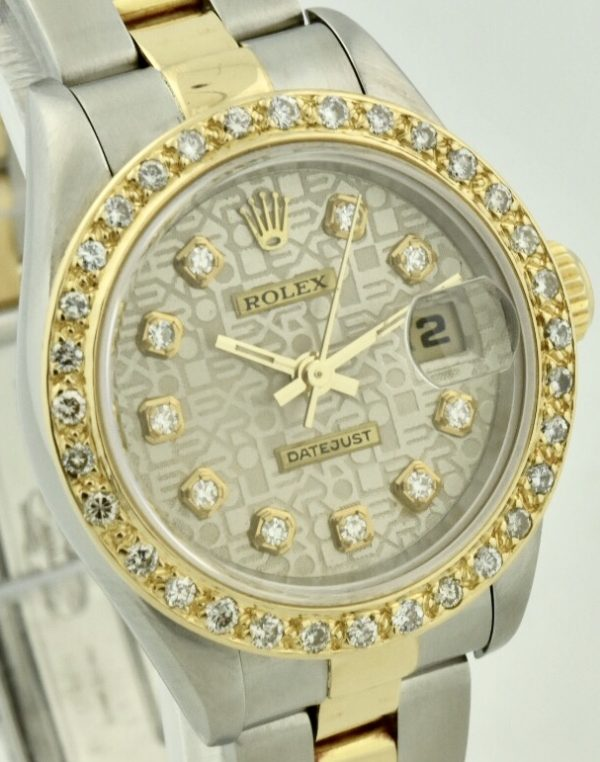 rolex 69173 steel & gold diamond watch