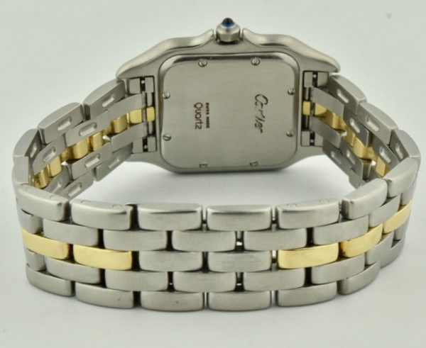 cartier panthere steel & gold band