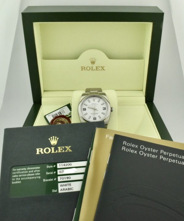 rolex air king white dial for sale