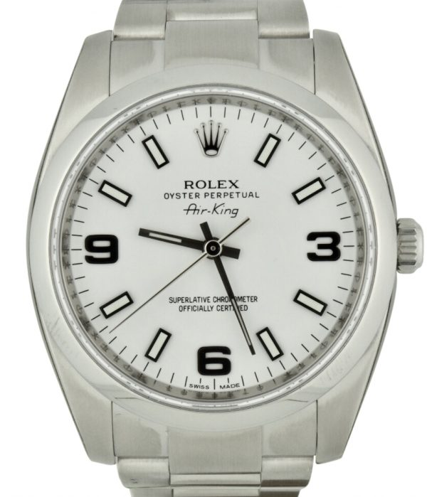 rolex air-king 114200 white dial for sale