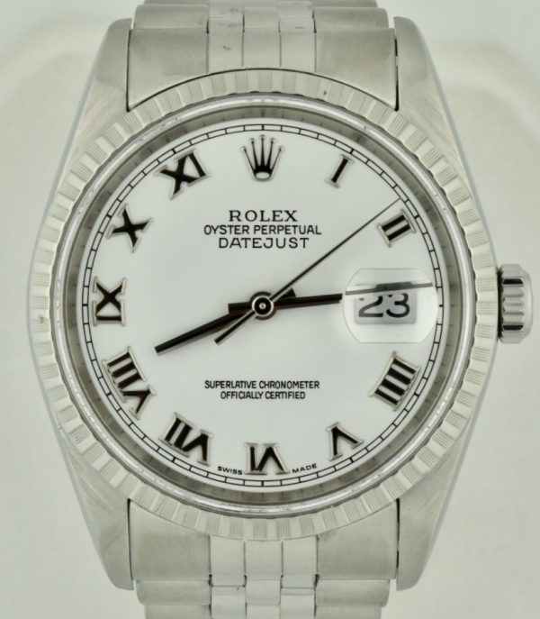 2005 Rolex Datejust 16220 Stainless Steel For Sale