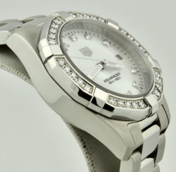 ladies tag heuer aquaracer diamond bezel